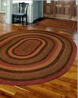 IHF Rugs Country Meadow Oval Red Area Rug