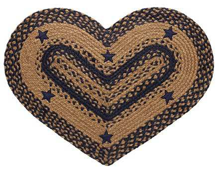 IHF Rugs Star Heart Blue Area Rug