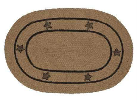 IHF Rugs Burlap Star Oval Beige Area Rug