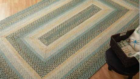 IHF Rugs Robins Egg Rectangular Green Area Rug