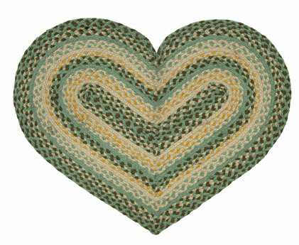 IHF Rugs Robins Egg Heart Green Area Rug
