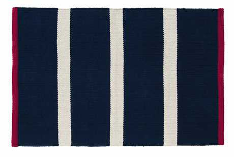 IHF Rugs Royal Rectangular Navy Area Rug