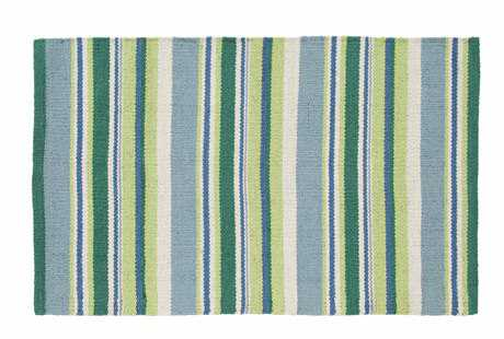 IHF Rugs Mint Dhurrie Rectangular Blue Area Rug