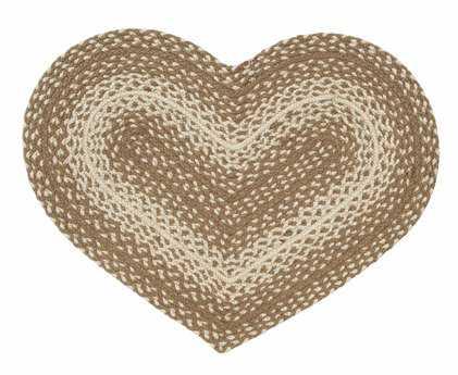 IHF Rugs Oatmeal Heart Beige Area Rug