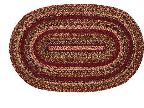 IHF Rugs Apple Cider Oval Green Brown & Red Area Rug