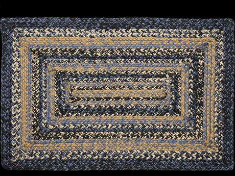 IHF Rugs River Shale Rectangular Blue & Beige Area Rug