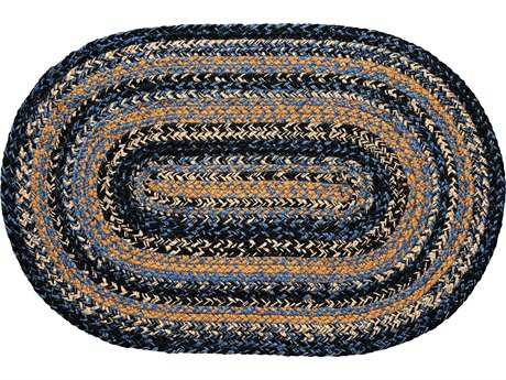 IHF Rugs River Shale Oval Blue & Beige Area Rug