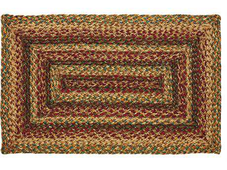 IHF Rugs Plantation Rectangular Red Beige & Green Area Rug