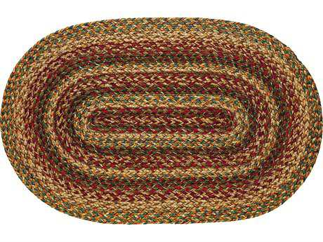 IHF Rugs Plantation Oval Red Beige & Green Area Rug