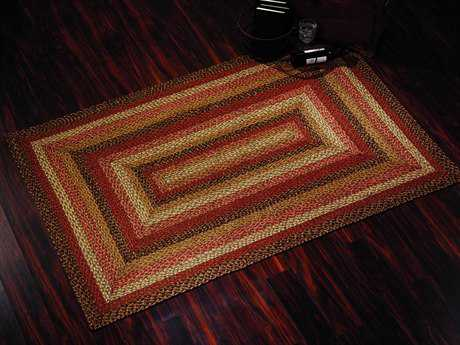 IHF Rugs Ginger Rectangular Red Brown & Beige Area Rug