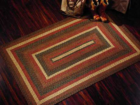 IHF Rugs Montana Rectangular Brown Red & Beige Area Rug