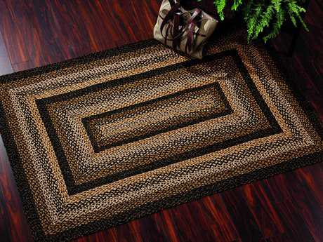 IHF Rugs Black Forest Rectangular Black Brown & Beige Area Rug