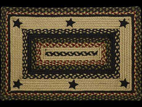 IHF Rugs Tartan Star Rectangular Beige Red & Blue Area Rug