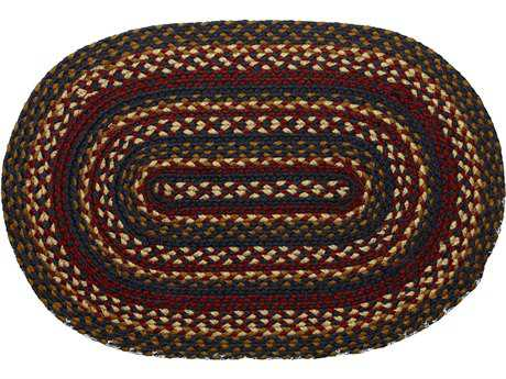 IHF Rugs Blueberry Oval Blue Red & Beige Area Rug