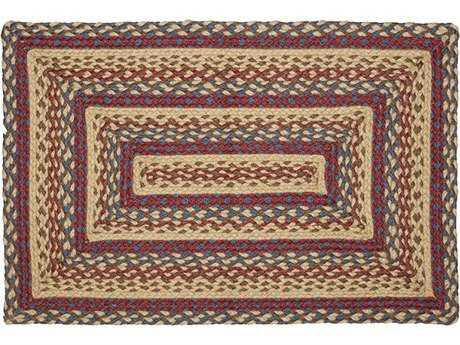 IHF Rugs Shaker Rectangular Beige Blue & Red Area Rug