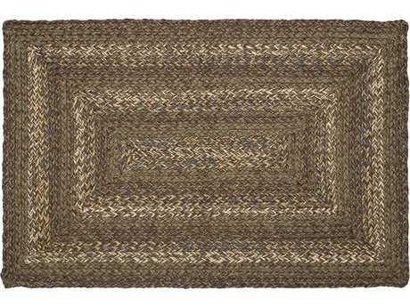 IHF Rugs Lake Forest Rectangular Green & Brown Area Rug