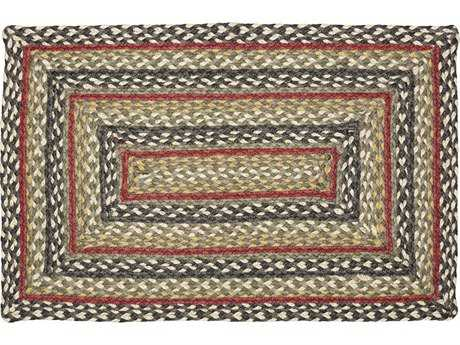 IHF Rugs Kensington Rectangular Gray Green & Red Area Rug