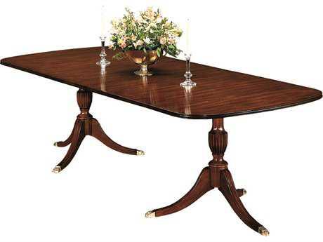 Henkel Harris 68 x 44 Storage Leaf Double Pedestal Dining Table