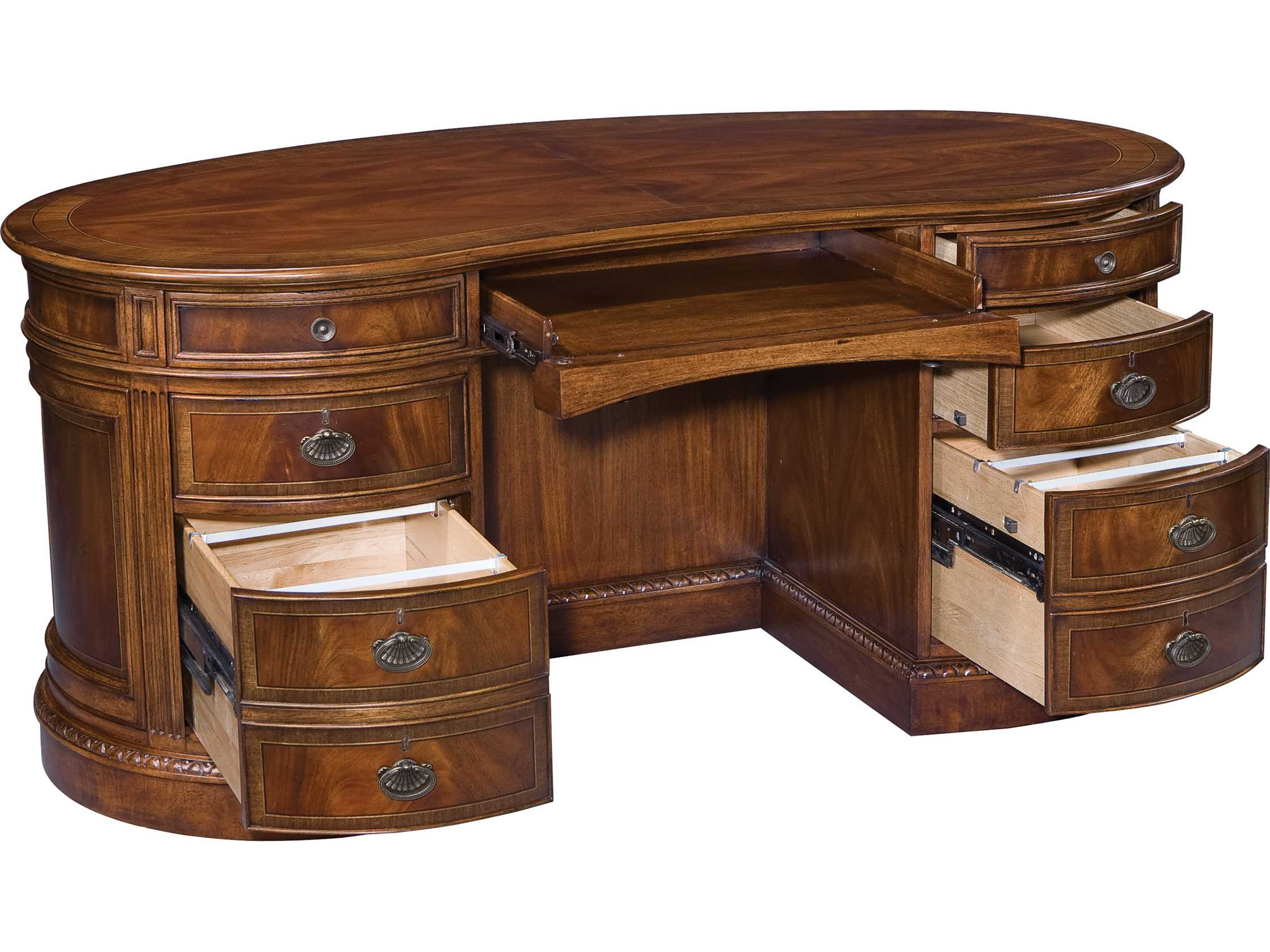 Hekman New Orleans 64 X 36 Kidney Desk
