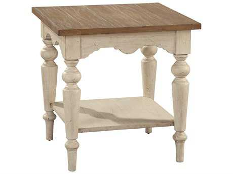 Hekman Suttons Bay Sand & Weathered Square Lamp Table
