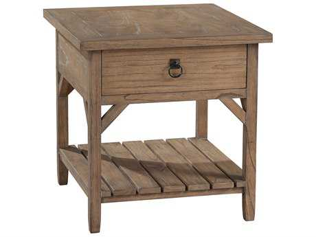 Hekman Suttons Bay Weathered Primitive One Drawer Lamp Table