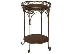 Hekman Accents Vintage Round Iron Chairside Table