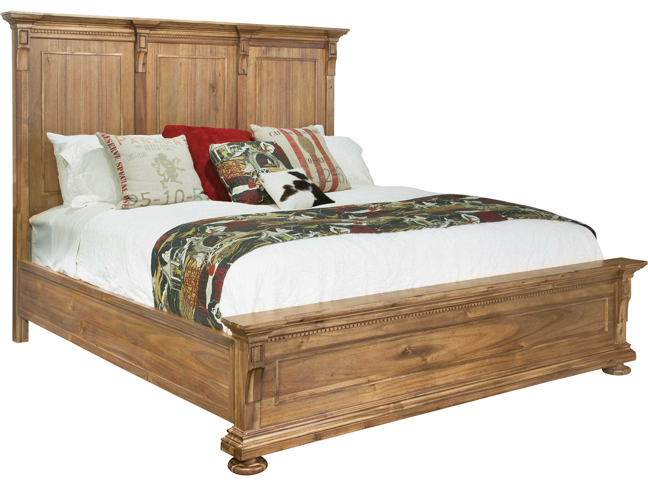 Hekman wellington hall queen panel bed hk23365 for Beds wellington