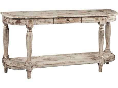 Hekman Accents Heavily Distressed Antique White Console Table with Drawer