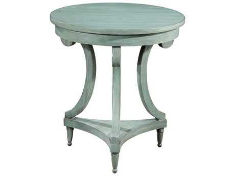 Hekman Accents Grayed Jade Round Painted Table