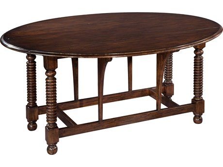 Hekman Accents Bobbin Leg 68'' x 50'' Oval Drop Leaf Table