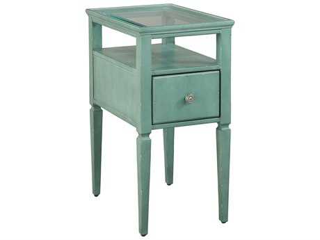 Hekman Accents Seafoam Green Chairside Table