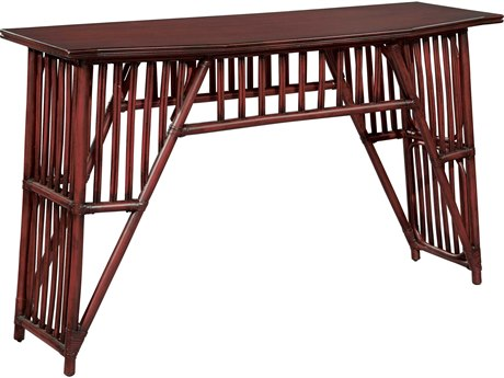 Hekman Accents Weathered Red Slat Console Table