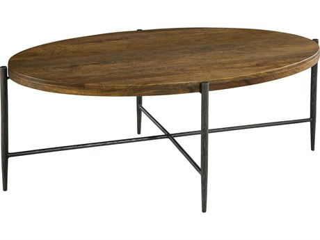 Hekman Accents Metal & Wood Oval Coffee Table