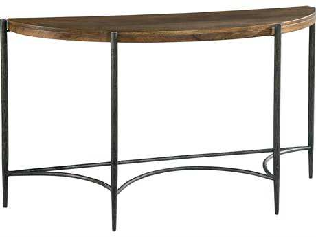 Hekman Accents Metal & Wood Demilune Table