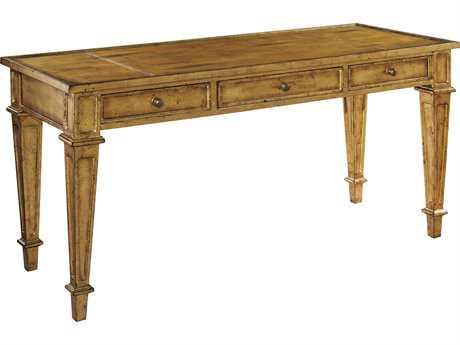 Hekman Home Office Burnished Gold Metal Leaf Gold Leaf Table Desk