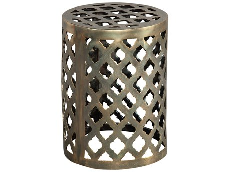 Hekman Accents Brass Special Reserve 13'' Round Garden Stool / Table