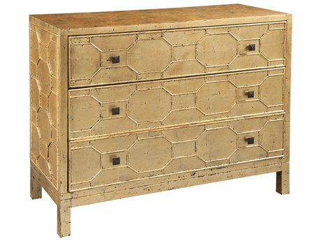 Hekman Accents Gold Leaf Lattice Face Special Reserve Three-Drawer Chest