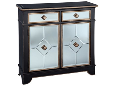 Hekman Accents Black Mirrored Special Reserve Two-Drawer / Two-Door Chest