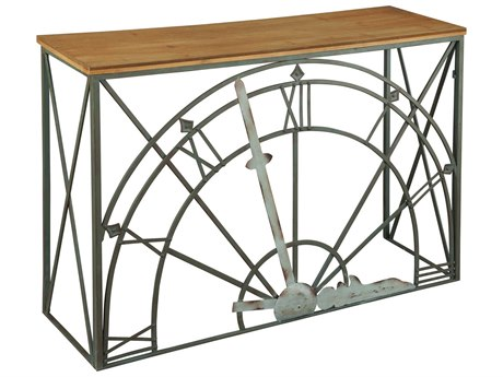 Hekman Accents Clock Dial Special Reserve 44'' x 14'' Rectangular Console Table with Wood Top