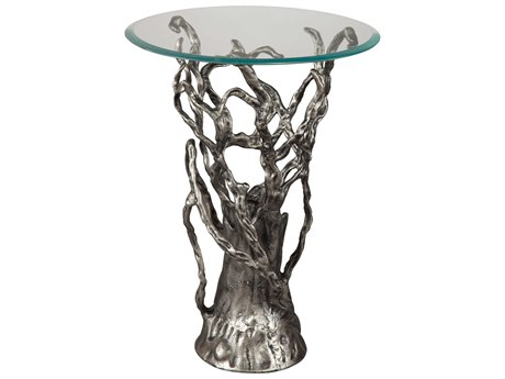 Hekman Accents Antique Nickel Branch Special Reserve 17.5'' Round End Table