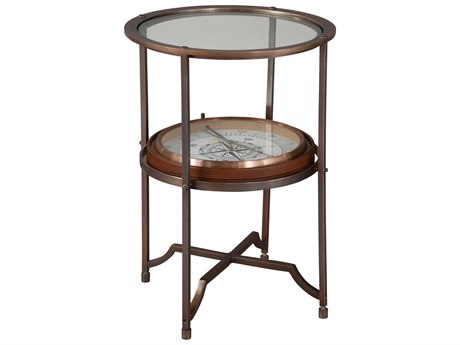 Hekman Accents Compass Guidepoints Chairside Special Reserve 16.75'' Round End Table