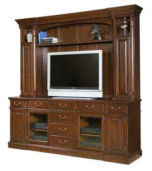 Hekman Entertainment Console in Weathered Cherry