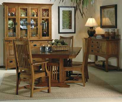 Hekman Arts & Crafts 4 Person Dining Room Set