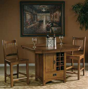Hekman Arts & Crafts 4 Piece Dining Room Set