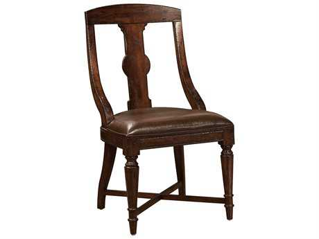 Hekman Havana Leather Dining Side Chair