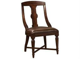 Hekman Havana Leather Dining Side Chair