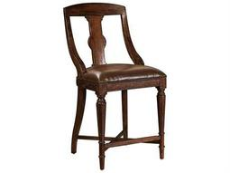 Hekman Havana Leather Seat Pub Counter Chair