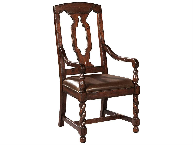 hekman havana tall back leather seat dining arm chair hk81235. Black Bedroom Furniture Sets. Home Design Ideas