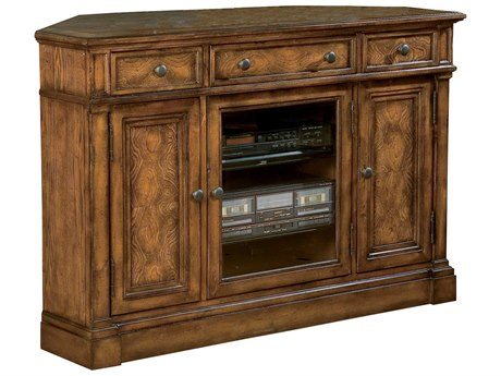 Hekman Entertainment Corner Console in Urban Ash Burl