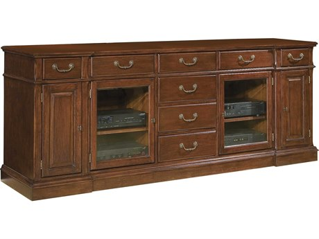 Hekman Entertainment Credenza in Weathered Cherry